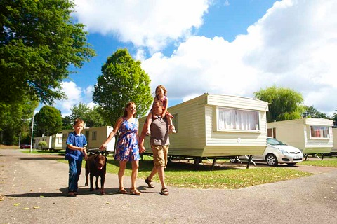 Static caravan summer holiday